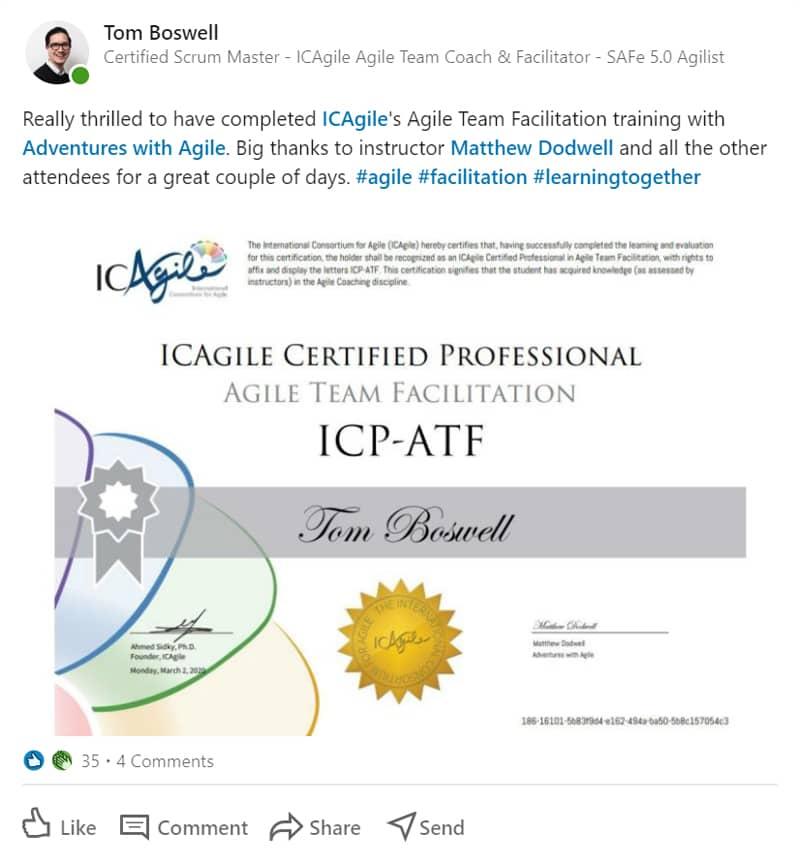 ICP-ATF Agile Team Facilitation certification